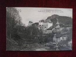CPA LA BOURBOULE LES BAINS VALLEE DE LA DORDOGNE VUE DU PONT CHARLEY PUY DE DOME CASINO DES THERMES - La Bourboule