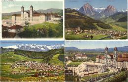 Einsiedeln - 4 Alte, Farbige Karten           Ca. 1910 - SZ Schwyz