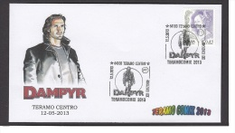 6.- 021 ITALY ITALIA 2013. SPECIAL POSTMARK. TERAMO COMIX 2013 DAMPY. - Fumetti