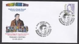6.- 022 ITALY ITALIA 2013. SPECIAL POSTMARK. TERAMO COMIX 2013  COMICS. SERGIO BONELLI.  THE MAN OF THE COMICS - Fumetti