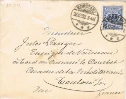 3977. Carta KONSTANZ (Alemania Reich) 1892 A Francia - Cartas