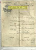 05- Hautes-alpes - VEYNES - Facture BOISSERANC - Draperie - 1885 - 1800 – 1899