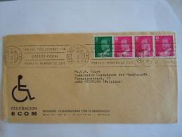 Spanje Espagne Spain Brief Lettre Letter 1978 Fédération Ecom Handicapés Série Courante Juan Carlos Yv 1992 2059 - 1931-Aujourd'hui: II. République - ....Juan Carlos I