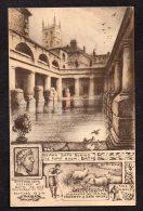 Roman Bath Behind The Pump Room - Bath-Unposted R P Phillimore Card As Scanned - Bath