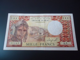1975 FRENCH AFARS & ISSAS VERY VERY RARE 1000 FRANCS ( P34 ) - XF - - Otros – Africa