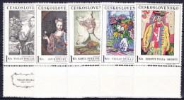 ** Tchécoslovaquie 1966 Mi 1668-72 (Yv 1530-4) Avec Vignette, (MNH) - Ungebraucht