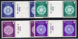 Z733 - ANTARTIC 1986 , Serie N. 156/159  *** MNH . Coppie Con Ponte . - Territorio Antartico Britannico  (BAT)