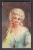 131094 / Illustrator ?? - 1918 Beautiful Woman EDVARDIAN ORNAMENT , MODA - L&B 16178 - 1900-1949