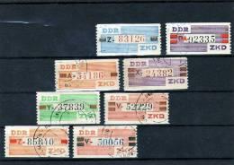 Rare Dienstmarke Vorbereitete ZKD In Neue Farben DDR III Bis X Set 8xBillett Mit U=o 240€ Ausgabe B Dienst Kurier-Marken - Service