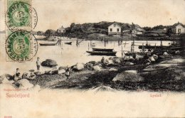 CPA  -  NORVEGE  -   SANDEFJORD  -   LYSTAD  -  1907 - Norvège