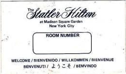NEW YORK CITY STATLER HILTON VINTAGE LUGGAGE LABEL - Hotel Labels