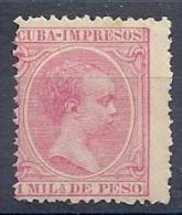130605529  COLCU  ESP.   EDIFIL Nº  131  *  MH - Cuba (1874-1898)