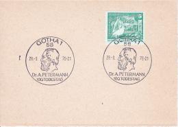 DDR Karte Mit Mi.-Nr. 1842 - Sonderstempel 100. Todestag Dr. Petermann (0585) - [6] République Démocratique