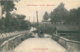 SAINT SULPICE - 60 - Lavoir, Abreuvoir (CPA Animée, Carriole) - France