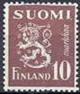 Finland 1949 10mk Bruin Leeuwentype M/30 PF-MNH-NEUF - Neufs