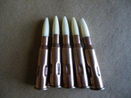 5 Cartouches De Manipulation Cal 7,62X54R Pour Le Fusil Mosin Nagant - Equipement