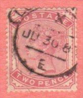 GBR SC #81 U 1880 Queen Victoria W/CDS, CV $100.00+ - 1840-1901 (Victoria)