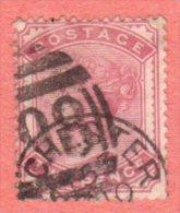 GBR SC #81 U 1880 Queen Victoria W/CDS, CV $100.00 - 1840-1901 (Victoria)