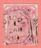 "GBR SC #81 U 1880 Queen Victoria  ""[L]ONDON / 22 AU 81"" In Double Octagon, CV $100.00 - 1840-1901 (Victoria)"