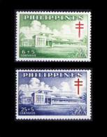 Philippines MNH 2v, Bohol Sanatorium, Tuberculosis Cross, Surcharged, Medicine, Disease - Disease