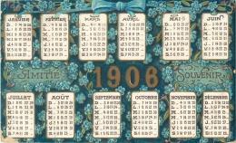 CARTE POSTALE CALENDRIER DE 1906 - Petit Format : 1901-20