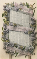 CARTE POSTALE CALENDRIER DE 1908 - Calendriers