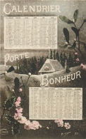 CARTE POSTALE CALENDRIER DE 1917 - Calendriers