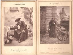 """V.Chevilliard. Carte-Album.  Curé.Humour."""" Votre Trés Humble Serviteur"""". """"La Gourmandise Est Un Péché"""". - Religions & Beliefs"""