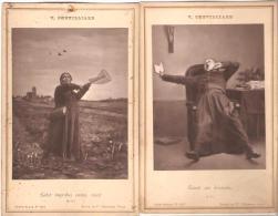 """V.Chevilliard. Carte-Album.  Curé.Humour.""""Labor Improbus Omnia Vincit"""". """"Lisant Son Breviaire"""". - Religions & Beliefs"""