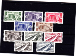 Lebanon 1954, Canal Litani  & Baalbeck,compl.set 10 Stamps Very Light Hinged Almots Unseen, Scrace Set -SKRILL PAY ONLY - Lebanon