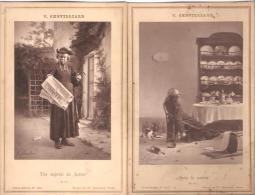 """V.Chevilliard. Carte-Album.  Curé.Humour. """"Une Méprise Du Facteur"""". """"Aprés Le Combat"""". - Religions & Croyances"""