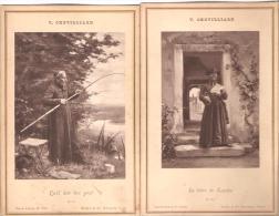 """V.Chevilliard. Carte-Album.  Curé.Humour. """"Qu'il Doit être Gros"""". """"La Lettre De Lourdes"""". - Religions & Beliefs"""