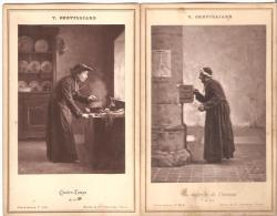 """V.Chevilliard. Carte-Album.  Curé.Humour. """"Quatre-temps"""". """"La Recherche De L'inconnu"""". - Religions & Croyances"""