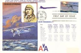 Charles Lindbergh  -  'Spirit Of St Louis'  -   Solo Transatlantic Flight  -  Flown  FDC  -  Premier Jour - Aerei