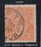 1914- 23 - Oceanie - Timbre D' Australie - George V - 2 P. Orange - - 1913-36 George V: Heads