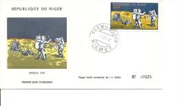 Espace - Apollo XVII ( FDCdu Niger De 1972 à Voir) - Africa