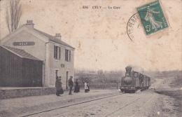 CPA CELY EN BIERE 77 LA GARE TRAIN - Frankrijk