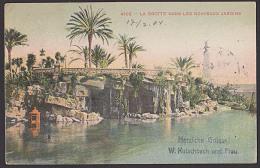 NICE NIZZA CAK 1904 La Grotte Dans Les Nouveaux Jardins Nach Halle (Saale) - Parcs Et Jardins