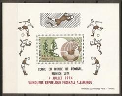 FÚTBOL - NIGER 1974 - Yvert #H12 ** - Precio Cat. €4.15 - Coppa Del Mondo