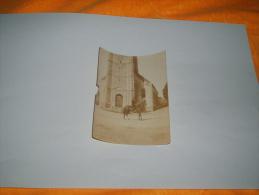 ANCIENNE PHOTO SEPIA MILITAIRE A IDENTIFIER FIN 19E / DEBUT 20E SIECLES /  INSCRIPTION AU DOS 1915 / MILITAIRE SUR UN CH - Guerre, Militaire