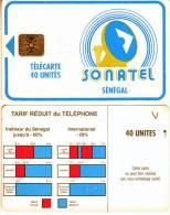 **Télécarte à Puce Du Sénégal   40Unités  Utilisée  Qualité TB  **** N°Lot 37612 - Sénégal