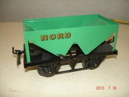 WAGON  BENE NORD  ECARTEMENT O  PEINTURE D ´ORIGINE VERTE     13cm  HORNBY /POUR HACHETTE ETAT NEUF - Toy Memorabilia