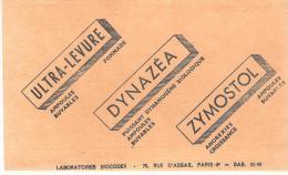 BUVARD LOBORATOIRE BIOCODEX ULTRA LEVURE DYNAZEA ZYMOSTOL BEIGE - Produits Pharmaceutiques