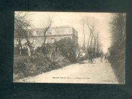 Mesnil Val (76) - Chemin De La Mer ( Animée Attelage Villa Cachet Ferroviaire Le Tréport à Dieppe Coll. Groult ) - Mesnil-Val