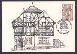 CP Avec CàD 68 RIQUEWIHR Maisons / Bureau De Postes 1999 Musée D´histoire Des PTT - Réf A1751 - Storia Postale