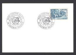 Carton Avec CàD 68 RIQUEWIHR Philatélie DE LA MALLE POSTE AU CHEMIN DE FER 1977 Musée D´histoire Des PTT - Réf A1754 - Storia Postale