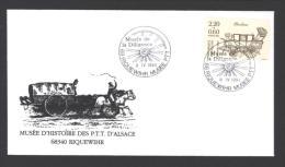 Lettre Avec CàD 68 RIQUEWIHR MUSEE PTT Musée De La Diligence 09/04/1993 - Réf A1755 - Storia Postale