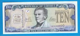LIBERIA - 10 Dolar  2003 SC  P-27 - Liberia
