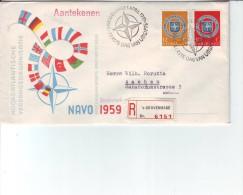 Niederlande - Beleg  Einschreiben R - Brief ´s-Gravenhage Nach Aachen 3.4.1959