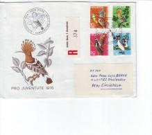 Schweiz Pro Juventute 1971 Einschreiben R - Brief Schweiz 3000 Bern 1 Annahme Nach 8840 Einsiedeln 1.12.70 - Pro Juventute